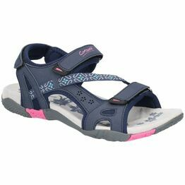 Cotswold Whichford Touch Fasten Sandal in Navy/Fushia