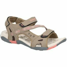Cotswold Whichford Touch Fasten Sandal in Taupe/Pink