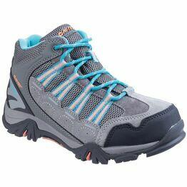 Hi-Tec Forza Mid Waterproof Boot in Cool Grey/Blue/Papaya Punch