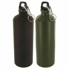 Highlander 1 Litre Aluminium Bottle - Green (Single)