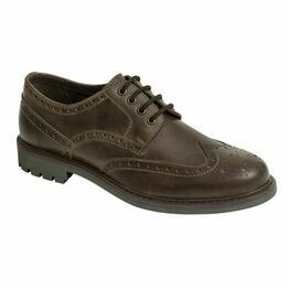 Hoggs Inverurie Brogue Shoes - Dark Brown