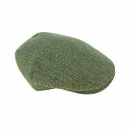 Helmsdale Waterproof Tweed Flat Cap - Green