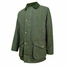 Helmsdale Waterproof Tweed Shooting Jacket - Green