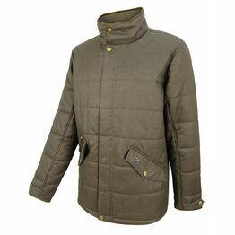 Hoggs Elgin Mens Herringbone Quilted Jacket - Green