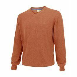 Hoggs Stirling Cotton V-Neck Jumper - Red
