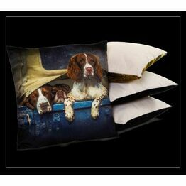 Country Matters Cushion - Spaniels in Landy