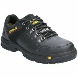 Caterpillar Extension Lace Up Safety Shoe in Black