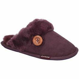 Cotswold Lechlade Sheepskin Mule Slipper in Purple