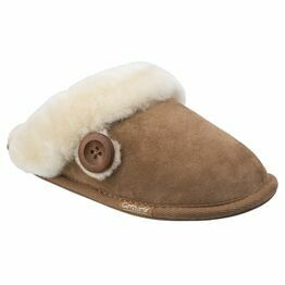 Cotswold Lechlade Sheepskin Mule Slipper in Chestnut