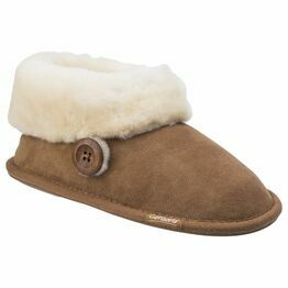 Cotswold Wotton Sheepskin Bootie Slipper in Chestnut