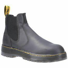 Dr. Martens Eaves SB Slip-On Safety Boot in Black