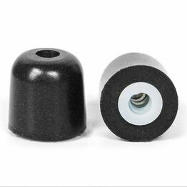 ISOtunes Trilogy Professional Foam Eartips in Black/White (XS)