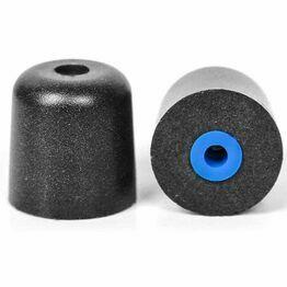 ISOtunes Trilogy Professional Foam Eartips in Black/Blue (L)