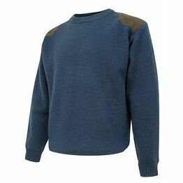 Hoggs of Fife Melrose Hunting Pullover in Navy