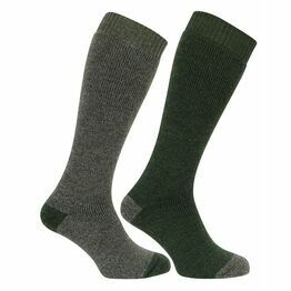Hoggs of Fife 1903 Country Long Socks in Tweed/Loden (Twin Pack)