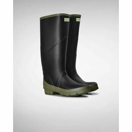 Hunter Argyll Bullseye Wellington Boots in Black