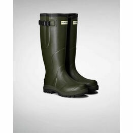 Hunter Balmoral Classic Adjustable Wellington Boots in Dark Olive