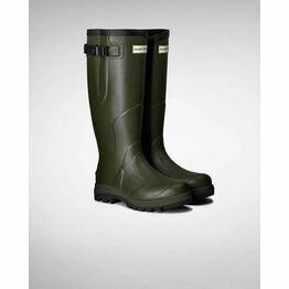 Hunter Balmoral Classic Adjustable Unisex Wellington Boots - Dark Olive