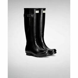 Hunter Norris Field Adjustable Wellington Boots in Black