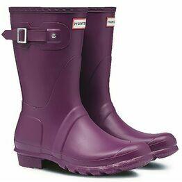 Hunter Original Short Wellington Boot in Violet
