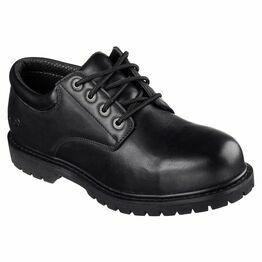 Skechers Men's Cottonwood Elks Oxford Work Shoes - Black