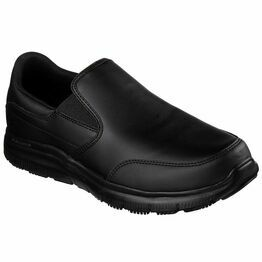 Skechers Flex Advantage SR Bronwood Slip-On Work Shoe in Black