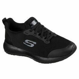 Skechers Squad SR Work Shoe in Black