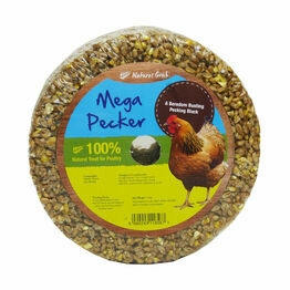 Natures Grub Mega Pecker Poultry Pecking Block - 1.2kg