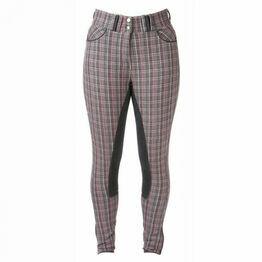 HyPERFORMANCE Frayer Ladies Breeches - Grey/Pink Check