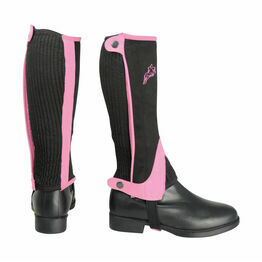 HyLAND Children's Two Tone Amara Half Chaps - Black/Pink