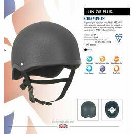 Champion Junior Plus Riding Hat - Black