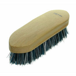 HySHINE Natural Wooden Dandy Brush - Teal/Black/White