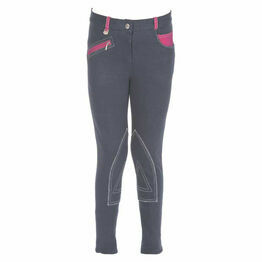 HyPERFORMANCE Diesel Children's Jodhpurs - Charcoal/Pink