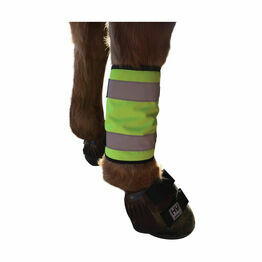 HyVIZ Reflector Horse Leg Wraps - Yellow