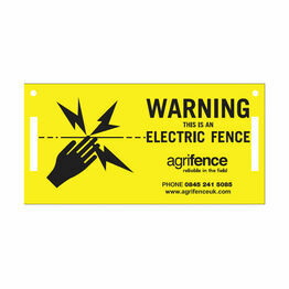 Agrifence Warning Signs (H4873) - Pack of 5