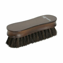 HySHINE Deluxe Wooden Face Brush with Horse Hair - 12.5 x 3.8cm