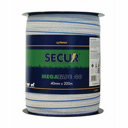 Agrifence Megatape Reinforced Tape (H4756) - White - 12mm x 200m