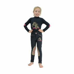 Riding Star Long Sleeved Top by Little Rider - Navy