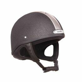 Champion Vent-Air Deluxe Riding Skull - Black/Silver
