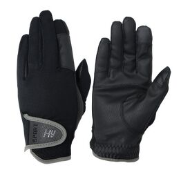 Hy5 Sport Dynamic Lightweight Riding Gloves - Black/Charcoal Grey