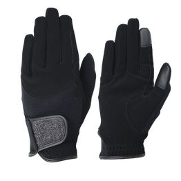 Hy5 Roka Riding Gloves - Black/Black