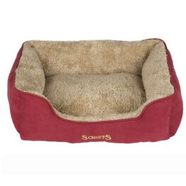 Scruffs Cosy Soft-Walled Dog Bed - Burgundy Red - One Size