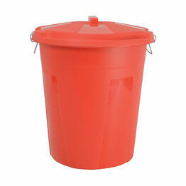 Dustbin & Lid - Red - 50 litre