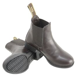 HyLAND Beverley Synthetic Combi Leather Jodhpur Boot - Brown