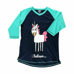 LazyOne Womens I Believe Unicorn PJ Tall T Shirt Adult