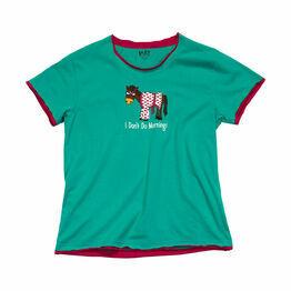 LazyOne Womens Don't Do Mornings Horse PJ T Shirt