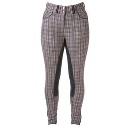 HyPERFORMANCE Frayer Ladies Breeches - Chocolate Brown/Pink Check