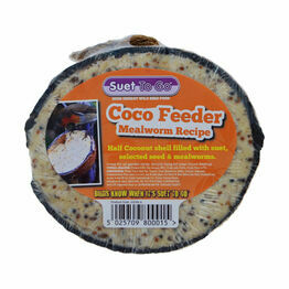 Suet To Go Half Coconut Feeder - Mealworm