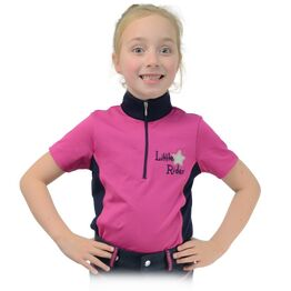 Shimmering Star Show Shirt by Little Rider - Rose Pink/Navy
