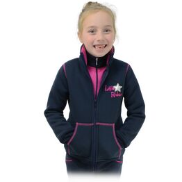 Shimmering Star Zip Fleece by Little Rider - Rose Pink/Navy